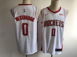 Mens New Season Nba Houston Rockets #0 Russell Westbrook White Nike Swingman Jersey