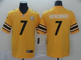 Mens Nfl Pittsburgh Steelers #7 Ben Roethlisberger Gold Nike Inverted Legend Vapor Untouchable Limited Jersey