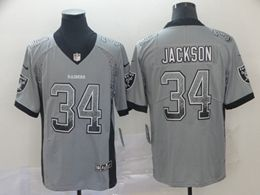 Mens Nfl Oakland Raiders #34 Bo Jackson Drift Fashion Gray Drift Fashion Vapor Untouchable Limited Jersey