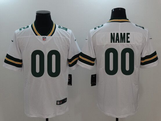Mens Women Youth Nfl Green Bay Packers White Custom Made Vapor Untouchable Limited Jersey