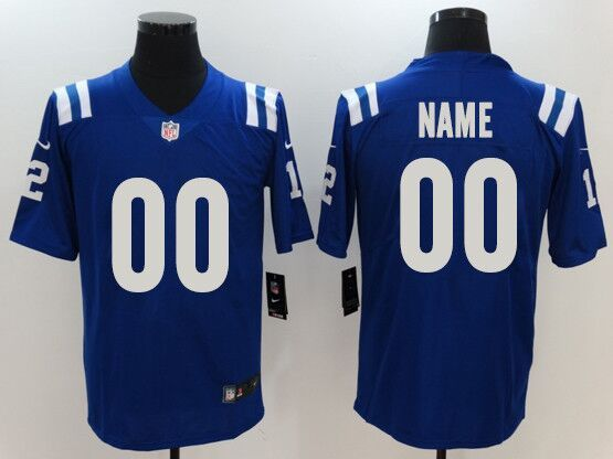 Mens Women Youth Nfl Indianapolis Colts Blue Custom Made Vapor Untouchable Limited Jersey