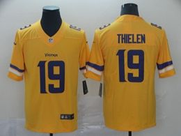 Mens Minnesota Vikings #19 Adam Thielen Gold Nike Inverted Legend Vapor Untouchable Limited Jersey