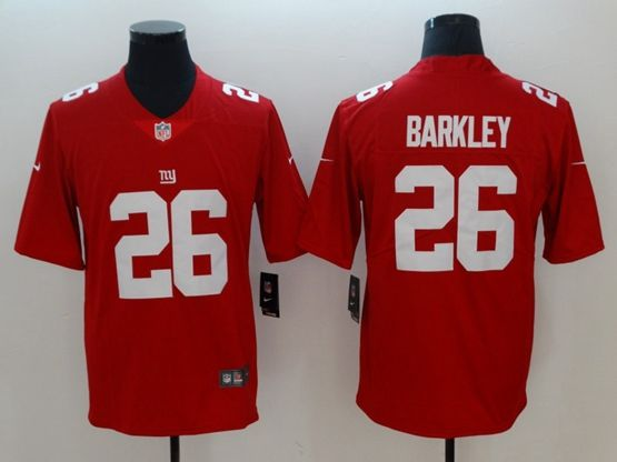 Mens Nfl New York Giants #26 Saquon Barkley Red Nike Inverted Legend Vapor Untouchable Limited Jersey