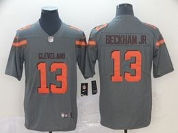 Mens Nfl Cleveland Browns #13 Odell Beckham Jr Gray Nike Inverted Legend Vapor Untouchable Limited Jersey