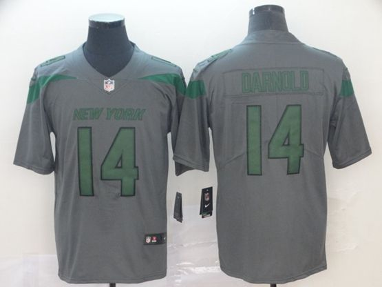 Mens Nfl New York Jets #14 Sam Darnold Gray Nike Inverted Legend Vapor Untouchable Limited Jersey