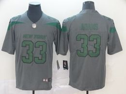 Mes Nfl New York Jets #33 Jamal Adams Gray Nike Inverted Legend Vapor Untouchable Limited Jersey