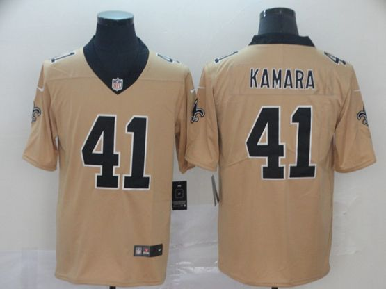 Mens Nfl New Orleans Saints #41 Alvin Kamara Gold Nike Inverted Legend Vapor Untouchable Limited Jersey