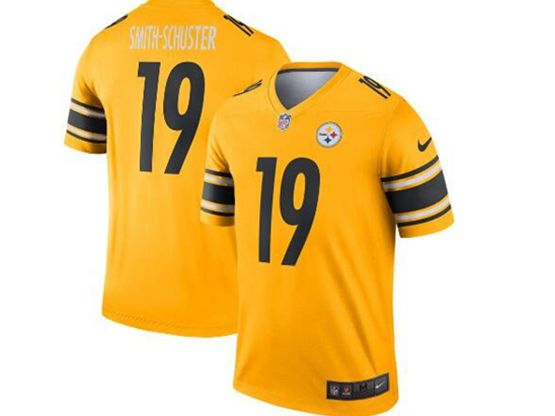 Mens Nfl Pittsburgh Steelers #19 Juju Smith-schuster Gold Nike Inverted Legend Jersey