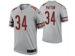 Women Nfl Chicago Bears #34 Walter Payton Silver Nike Inverted Legend Jersey
