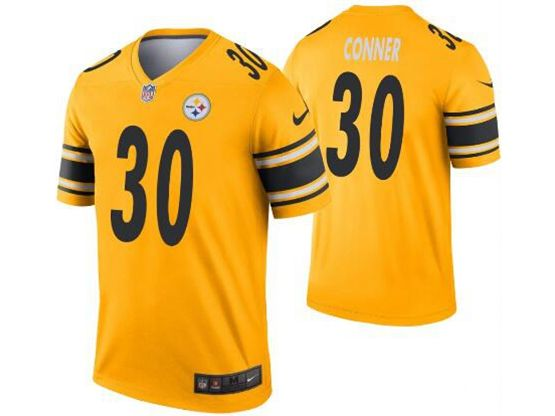 Mens Nfl Pittsburgh Steelers #30 James Conner Gold Nike Inverted Legend Jersey