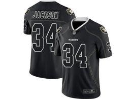 Mens Nfl Oakland Raiders #34 Bo Jackson Lights Out Black Vapor Untouchable Limited Jersey