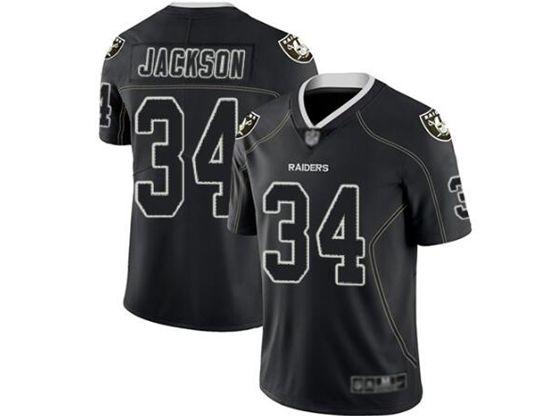 Mens Nfl Las Vegas Raiders #34 Bo Jackson Lights Out Black Vapor Untouchable Limited Jersey