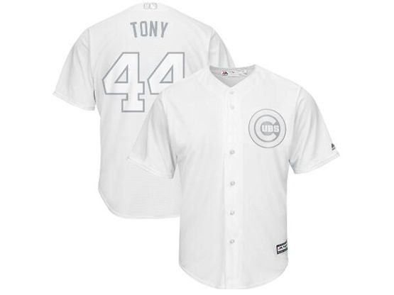 Mens Mlb Chicago Cubs #44 Tony (anthony Rizzo) White 2019 Players Weekend Cool Base Jersey