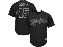 Mens Mlb Chicago White Sox #45 305 J (michael Jordan) Black 2019 Players Weekend Cool Base Jersey