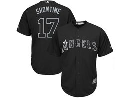 Mens Mlb Los Angeles Angels #17 Showtime (shohei Ohtani) Black 2019 Players Weekend Cool Base Jersey