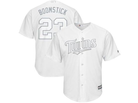 Mens Mlb Minnesota Twins #23 Boomstick (nelson Cruz) White 2019 Players Weekend Cool Base Jersey
