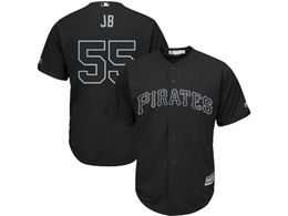 Mens Mlb Pittsburgh Pirates #55 Jb (josh Bell) Black 2019 Players Weekend Cool Base Jersey