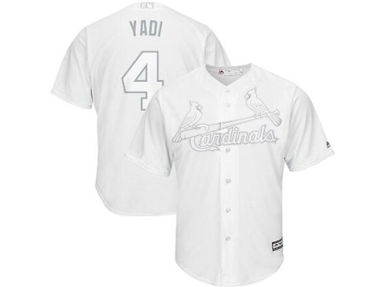 Mens Mlb St.louis Cardinals #4 Yadi (yadier Molina) White 2019 Players Weekend Cool Base Jersey