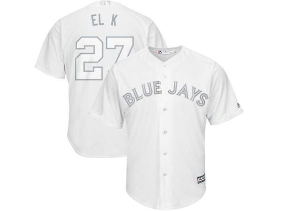 Mens Mlb Toronto Blue Jays #27 El K (guerrero Jr.) White 2019 Players Weekend Cool Base Jersey