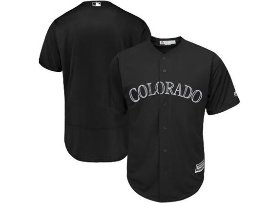 Mens Mlb Colorado Rockies Black 2019 Players Weekend Custom Made Flex Base Jersey