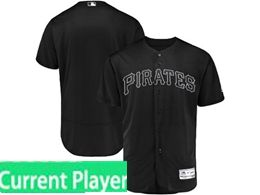 Mens Mlb Pittsburgh Pirates Black 2019 Players Weekend Current Player Flex Base Jersey