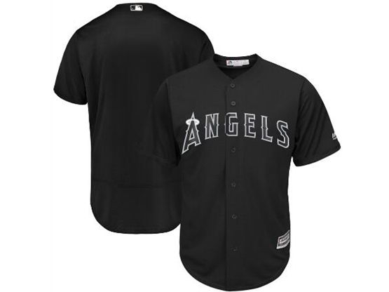 Mens Mlb Los Angeles Angels Black 2019 Players Weekend Current Player Flex Base Jersey