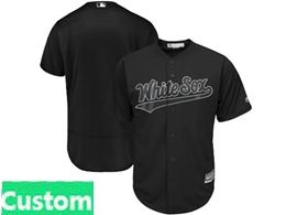 Mens Mlb Chicago White Sox Black 2019 Players Weekend Custom Made Flex Base Jersey