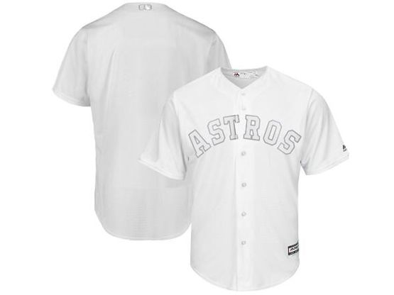 Mens Mlb Houston Astros White 2019 Players Weekend Custom Made Flex Base Jersey