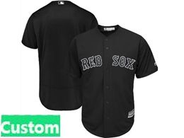 Mens Mlb Boston Red Sox Black 2019 Players Weekend Custom Made Flex Base Jersey