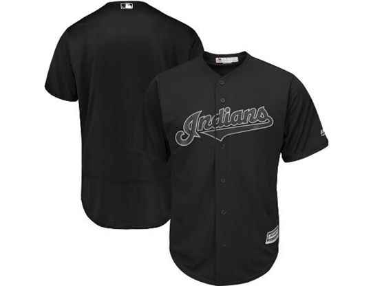Mens Mlb Cleveland Indians Black 2019 Players Weekend Custom Made Flex Base Jersey