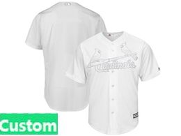 Mens Mlb St.louis Cardinals White 2019 Players Weekend Custom Made Flex Base Jersey