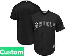 Mens Mlb Los Angeles Angels Black 2019 Players Weekend Custom Made Flex Base Jersey