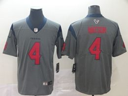 Mens Nfl Houston Texans #4 Deshaun Watson Gray Nike Inverted Legend Vapor Untouchable Limited Jersey
