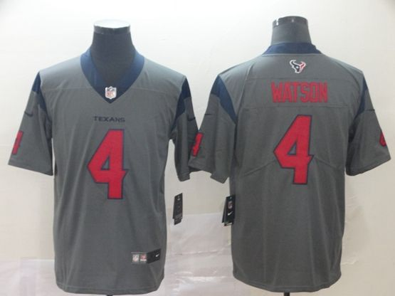 Mens Nfl Houston Texans #4 Deshaun Watson Gray Nike Inverted Legend Vapor Untouchable Limited Jersey