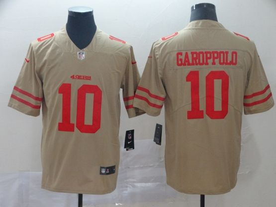 Mens Nfl San Francisco 49ers #10 Jimmy Garoppolo Gold Nike Inverted Legend Vapor Untouchable Limited Jersey