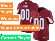 Mens Women Youth Nfl Arizona Cardinals Red Vapor Untouchable Limited Current Player Jersey