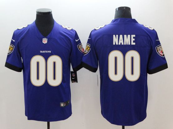 Mens Women Youth Nfl Baltimore Ravens Purple Custom Made Vapor Untouchable Limited Jersey