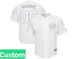 Mens Mlb Chicago Cubs White 2019 Players Weekend Custom Made Cool Base Jersey
