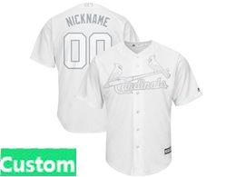 Mens Mlb St.louis Cardinals White 2019 Players Weekend Custom Made Cool Base Jersey