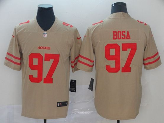 Mens Nfl San Francisco 49ers #97 Nick Bosa Gold Nike Inverted Legend Vapor Untouchable Limited Jersey