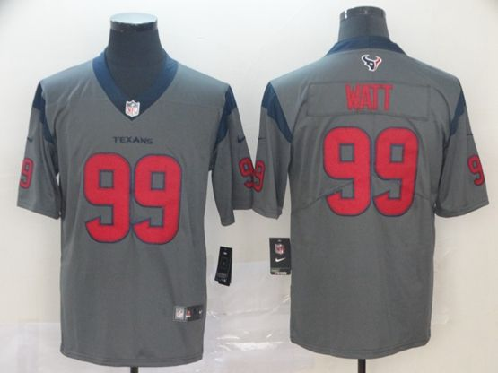 Mens Nfl Houston Texans #99 Jj Watt Gray Nike Inverted Legend Vapor Untouchable Limited Jersey