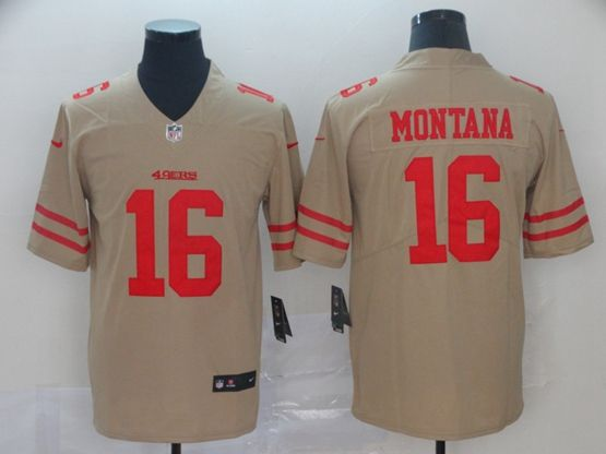 Mens Women Nfl San Francisco 49ers #16 Joe Montana Gray Nike Inverted Legend Vapor Untouchable Limited Jersey