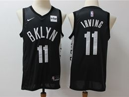 Mens Nba Brooklyn Nets #11 Kyrie Irving New Full Black Nike Swingman Jersey