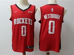 Mens New Season Nba Houston Rockets #0 Russell Westbrook Red Reward Edition Nike Swingman Jersey