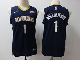 Youth New Orleans Hornets #1 Williamson Blue Cool Base Jersey