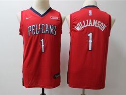 Youth New Orleans Hornets #1 Williamson Red Cool Base Jersey