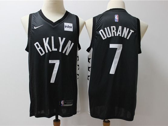 Mens Nba Brooklyn Nets #7 Kevin Durant New Full Black Nike Swingman Jersey