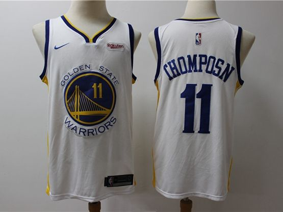 Mens 2019-20 Nba Golden State Warriors #11 Klay Thompson White Nike Swingman Jersey
