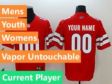 Mens Women Youth Nfl Buffalo Bills Red Current Player Vapor Untouchable Limited Jersey