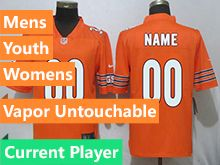 Mens Women Youth Nfl Chicago Bears Orange Vapor Untouchable Limited Current Player Jersey